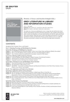 Textbook on Grey Literature