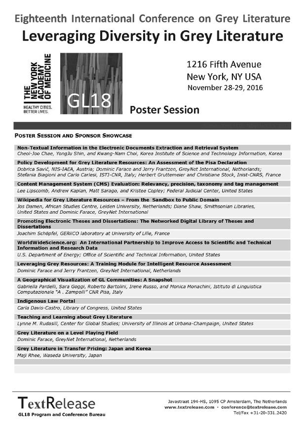 GL18 Poster Session