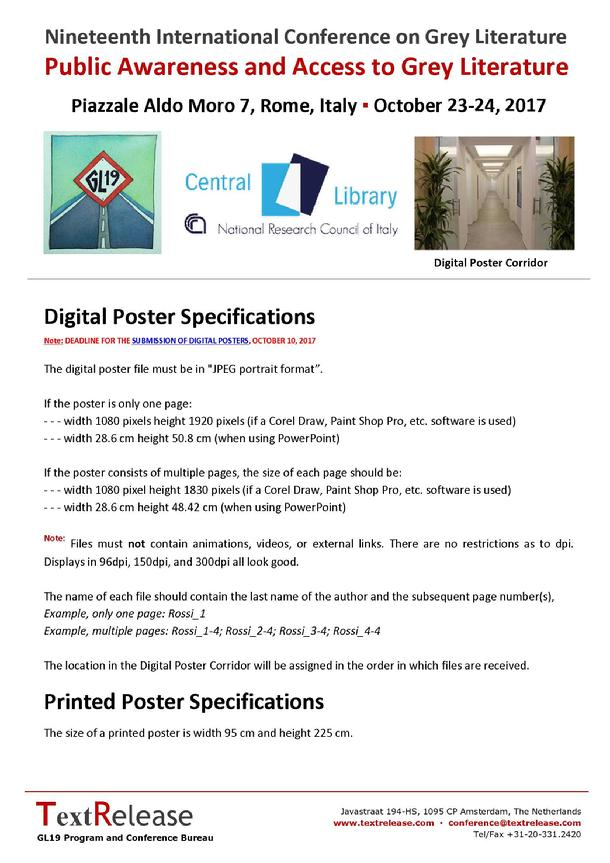 Poster Specifications