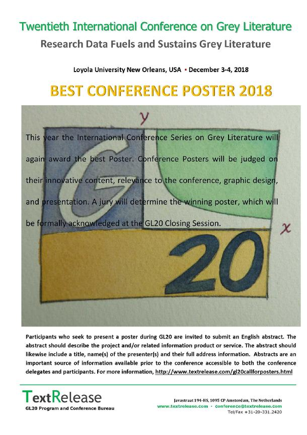 Best Conference Poster 2018