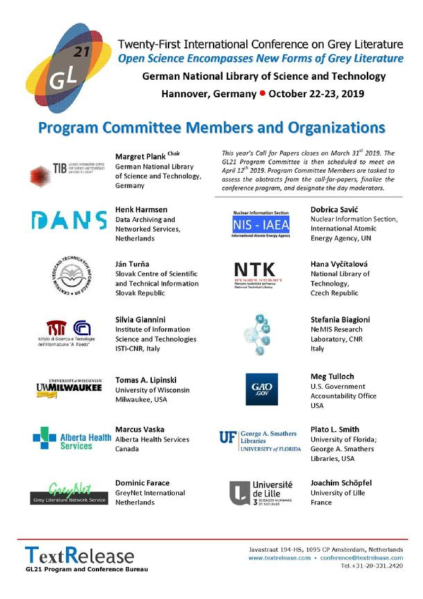 GL21 Program Committee and Organizations